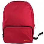 CANYON CNE-CNP15S1R Practical backpack for walk, sport and every day. Color red Main compartment with small zipper pocket on the front for your essential accessoriesMade of durable materials