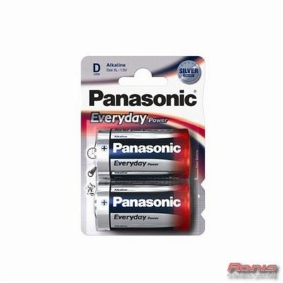 PANASONIC baterije LR20EPS/2BP - 2 × D Alkalne Everyday  Power - Punjive baterije