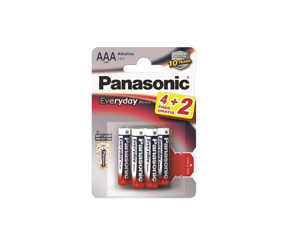 PANASONIC baterije LR03EPS/6BP -AAA 6kom Alkaline Everyday Power - Baterije za satove