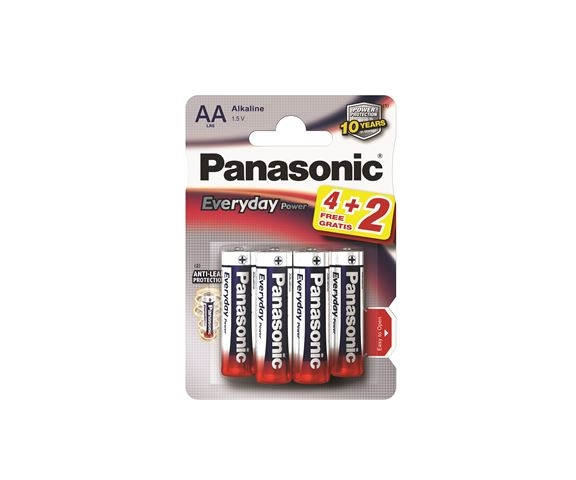 PANASONIC baterije LR6EPS/6BP -AA 6kom, Alkaline Everyday power - Baterije za satove