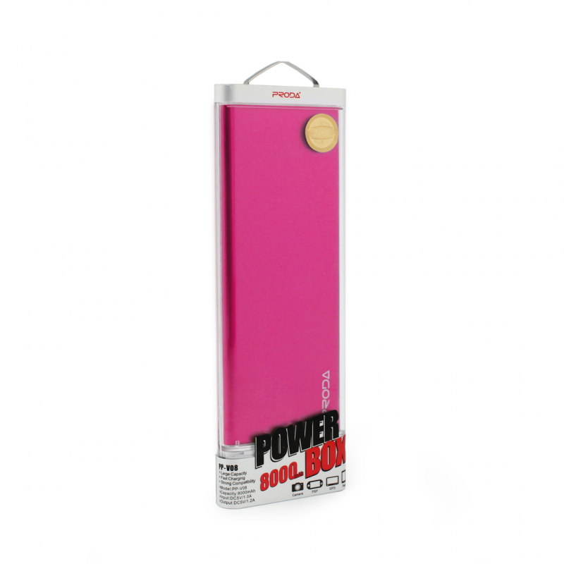 Back up baterija REMAX Proda PP-V08 micro USB 8000mAh pink - Backup za baterije